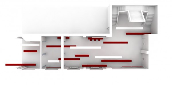 Interieur Red / Lines
